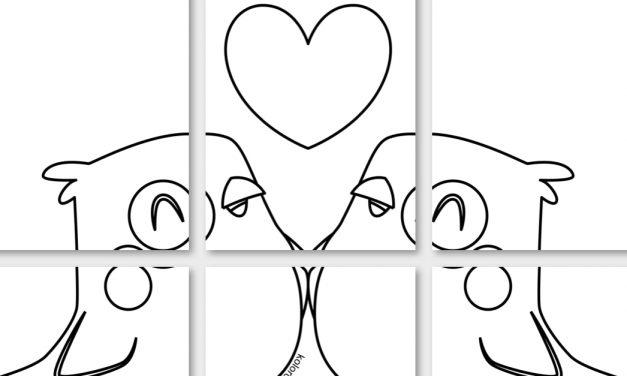 Kolorowanki XXL: Walentynki