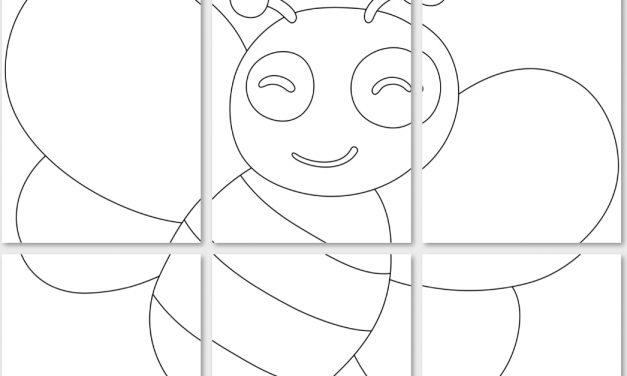 Kolorowanki XXL: pszczółki